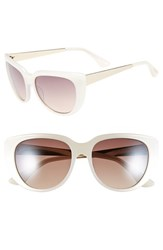 Women's Isaac Mizrahi New York 53Mm Sunglasses Ivory