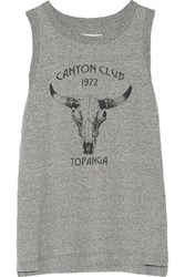 Current Elliott Canyon Club Printed Melange Jersey Tank Gray
