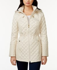 Laundry By Design Hooded Quilted Jacket Pearl