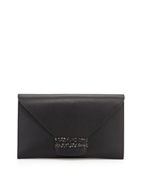 Vbh Vitello Leather Envelope Clutch Bag Black