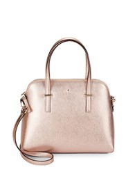 Kate Spade Leather Dome Satchel Handbag Rose Gold