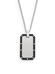 Saks Fifth Avenue Titanium And Stainless Steel Pendant Necklace