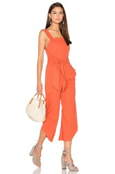 Lucca Couture Square Neck Belted Cropped Jumpsuit Orange