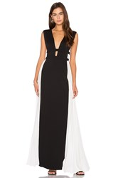 Bcbgmaxazria Colorblock Gown Black And White