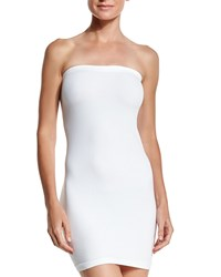 Letarte Essential Bandeau Strapless Mini Dress White
