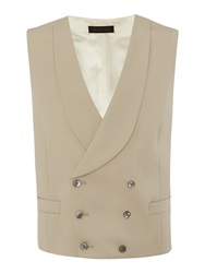 Chester Barrie Plain Tailored Fit Waistcoat Buff