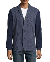Howe Still Life Cotton Blend Blazer Jacket Navy