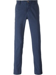 Incotex Front Pleat Trousers Blue