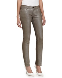 Stella Mccartney Coated Skinny Trousers Brown