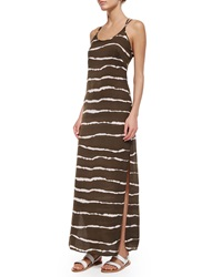 Halston Heritage Dip Dye Striped Maxi Dress