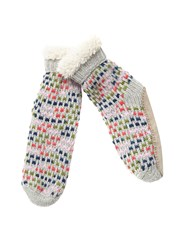 White Stuff Textured Spacey Slipper Sock Multi Coloured