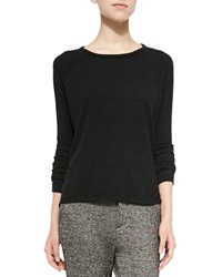 Rag And Bone Rag And Bone Jean Camden Long Sleeve Knit Top Black