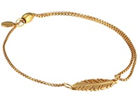 Alex And Ani Precious Ii Collection Feather Adjustable Bracelet Gold Plated Finish Bracelet