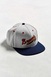 American Needle Big Show Milwaukee Braves Baseball Hat White