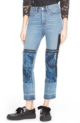 Marc By Marc Jacobs 'Acanthus Print' Patchwork Jeans Acanthus Patch