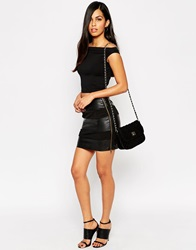 Ax Paris Pu Panel Skirt Black