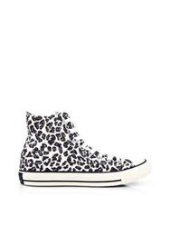 Converse Sketchbook Leopard Print Chuck Taylor All Star High Rise Trainers Natural