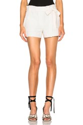Helmut Lang Patch Pocket Shorts In Neutrals White