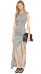 Pam And Gela Twisted Knit Dress Heather Grey
