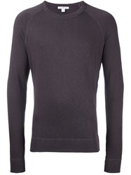 James Perse Raglan Sleeve Sweatshirt Pink And Purple