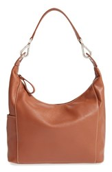 Longchamp 'Le Foulonne' Leather Hobo Bag Brown Cognac
