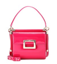 Roger Vivier Miss Viv' Carre Mini Patent Leather Shoulder Bag Pink