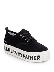 Eleven Paris Karl Is My Father Platform Sneakers Black