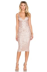 Nookie Starstruck Sequin Slip Dress Tan