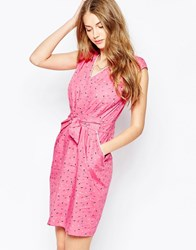 Trollied Dolly Take The Plunge Dress Pink Sprinkles