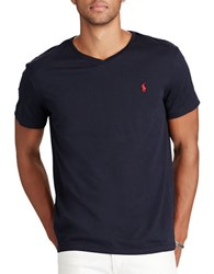 Polo Ralph Lauren Cotton Jersey V Neck Tee Ink