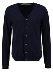Burton Menswear London Cardigan Navy Dark Blue