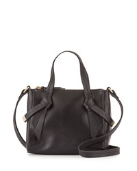 Foley Corinna Bandeau Medium Leather Satchel Bag Black