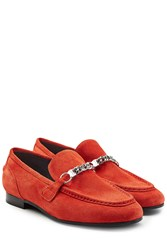 Rag And Bone Suede Loafers Red