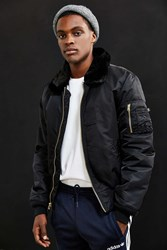 Alpha Industries B 15 Slim Fit Bomber Jacket Black