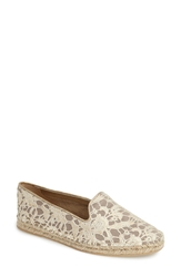 Cole Haan 'Palermo' Leather Espadrille Women Metallic Lace Gold