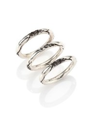 Cast Of Vices 0.925 Silver Cracked Ring Set