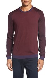 Ted Baker Men's London 'Cambell' Crewneck Sweater Purple
