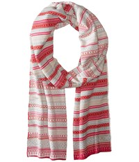 Dale Of Norway Vinje Scarf Raspberry Off White Scarves Red