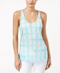 Calvin Klein Jeans Tie Dyed Tank Top Angel Blue