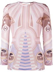 Givenchy Graphic Print Top Multicolour