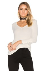 Chaser Deep V Button Cuff Thermal Tee Ivory