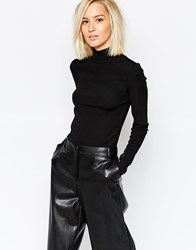 Selected Melissa Turtleneck Top In Black