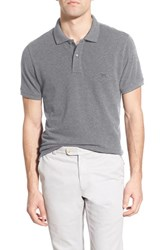 Men's Rodd And Gunn 'The Gunn' Pique Cotton Polo Silver