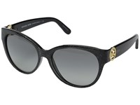 Michael Kors Tabitha I Black Glitter Grey Gradient Fashion Sunglasses