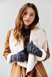 Urban Outfitters Space Dye Patch Convertible Glove Navy