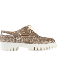 Alberto Guardiani Sequined Lace Up Shoes