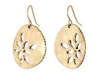 The Sak Pierced Metal Drop Earrings Gold Earring