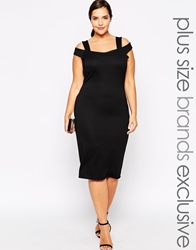 Pink Clove Bardot Bodycon Dress Black