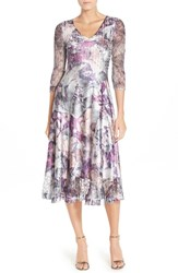 Komarov Petite Women's Mixed Media A Line Dress
