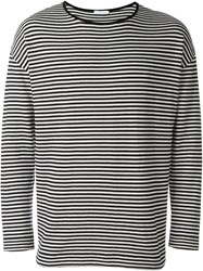 Societe Anonyme Striped Loose Pullover Black